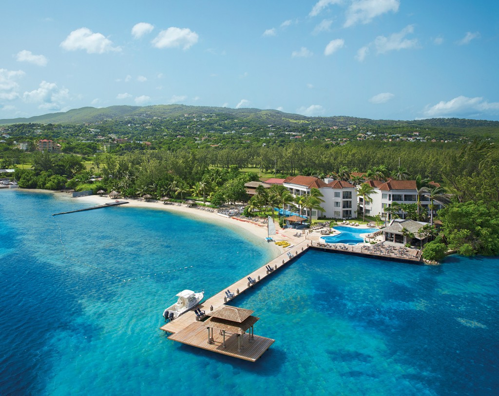 An aerial view of Zoetry Montego Bay Jamaica.